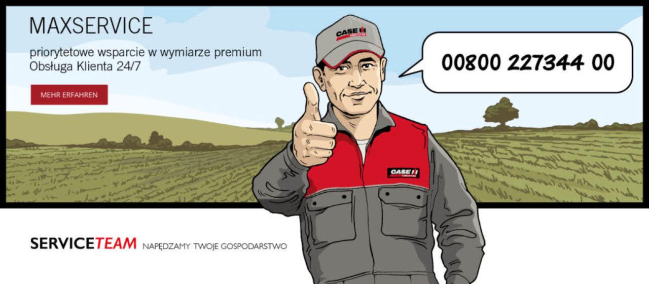 MAXSERVICE - Serwis Premium dla natychmiastowej pomocy w czasie żniw