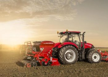 Case_IH_Maxxum_125_seeder_combination